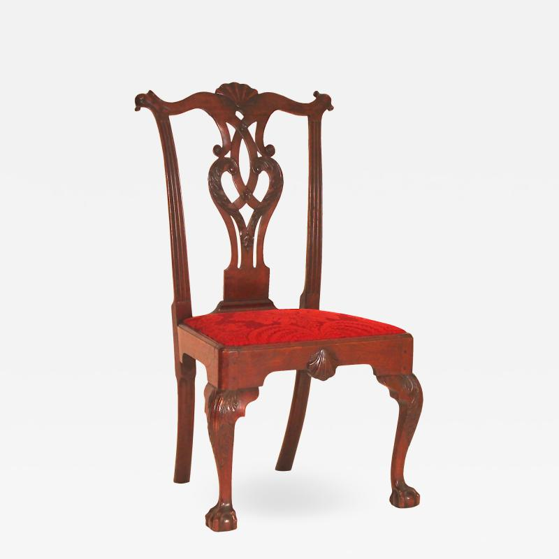 Mahogany Chippendale Carved Side Chair