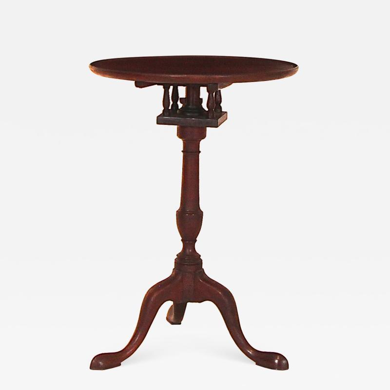 Mahogany Dish Top Candlestand