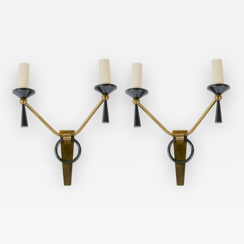Maison Arlus 1950s Pair of Sconces by Arlus