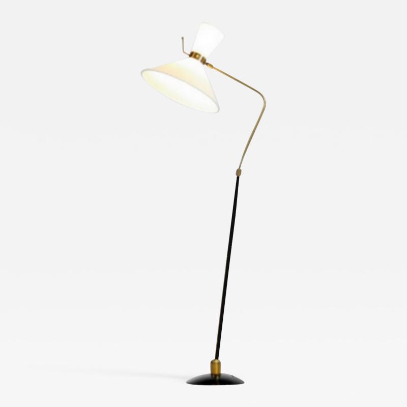 Maison Arlus Maison Arlus France orientable and adjustable floor lamp France 1950
