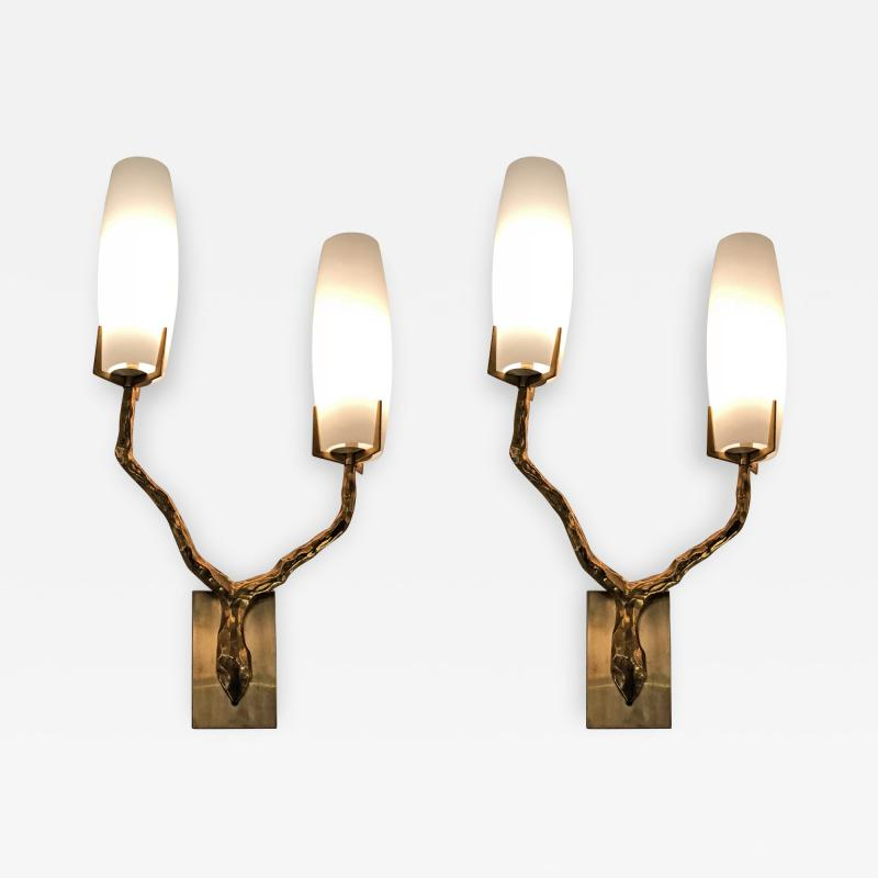 Maison Arlus Pair of Sconces by Maison Arlus France 1960s