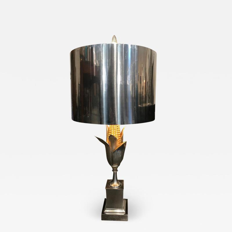 Maison Charles BRASS AND GILT BRONZE CORN TABLE LAMP BY MAISON CHARLES ET FILS