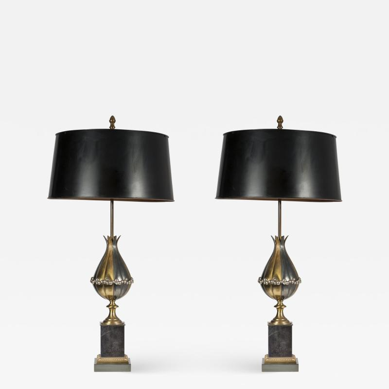 Maison Charles Pair of table lamps by maison Charles