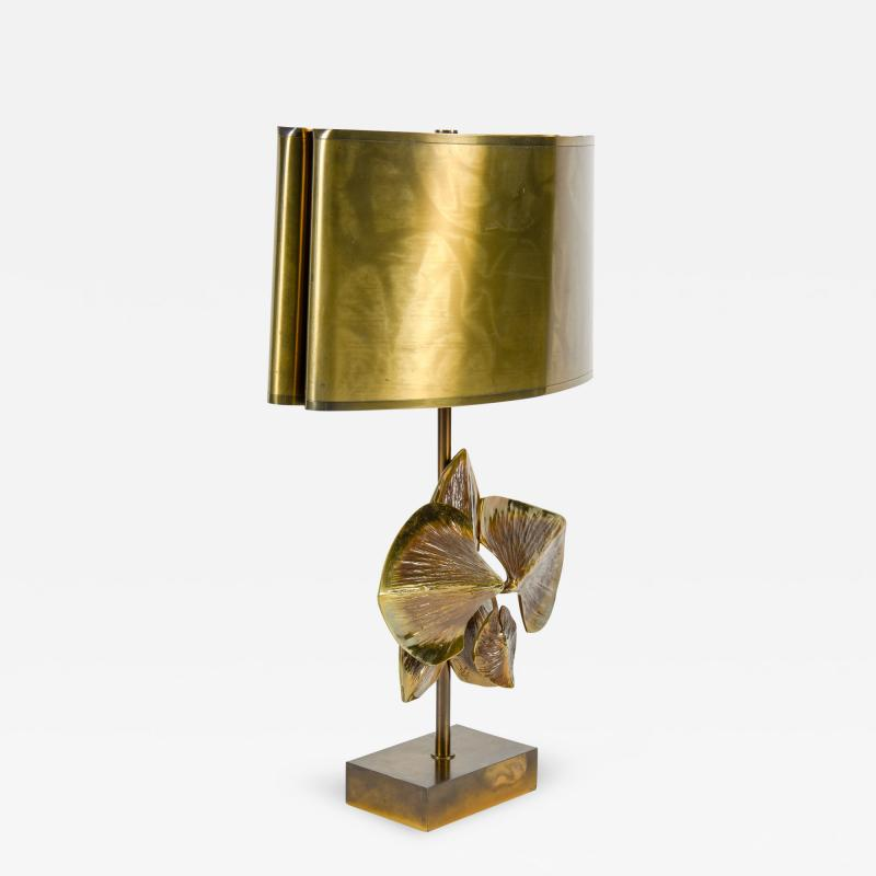 Maison Charles Rare bronze lamp by maison Charles