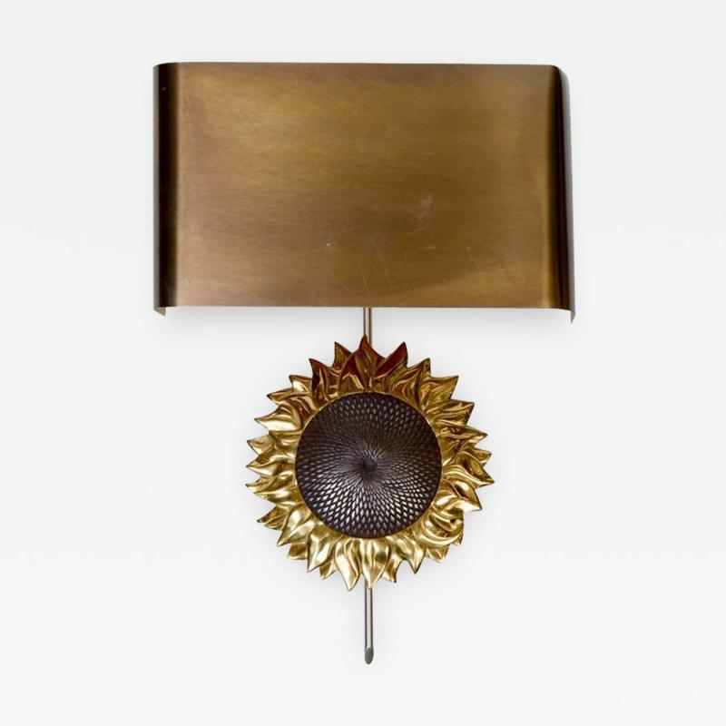 Maison Charles Sun Flower Bronze Wall Sconce by Maison Charles