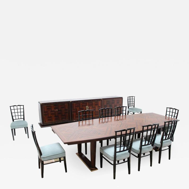 Maison Dominique FINE FRENCH 1960S DINING ROOM SET BY DOMINIQUE
