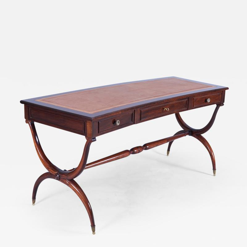 Maison Jansen A French 40 s Demi Lune Writing Desk in the manner of Maison Jansen
