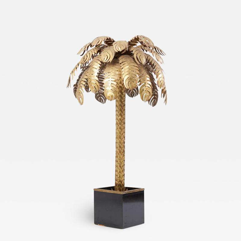 Maison Jansen Very Impressive Brass Palm Floor Lamp by Maison Jansen