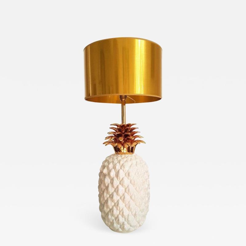Maison Lancel LARGE CERAMIC PINEAPPLE LAMP MID CENTURY MODERN FRANCE BY MAISON LANCEL
