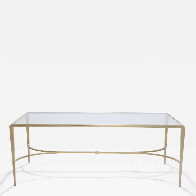 Maison Ramsay Maison Ramsay gilt wrought iron coffee table 1960 s