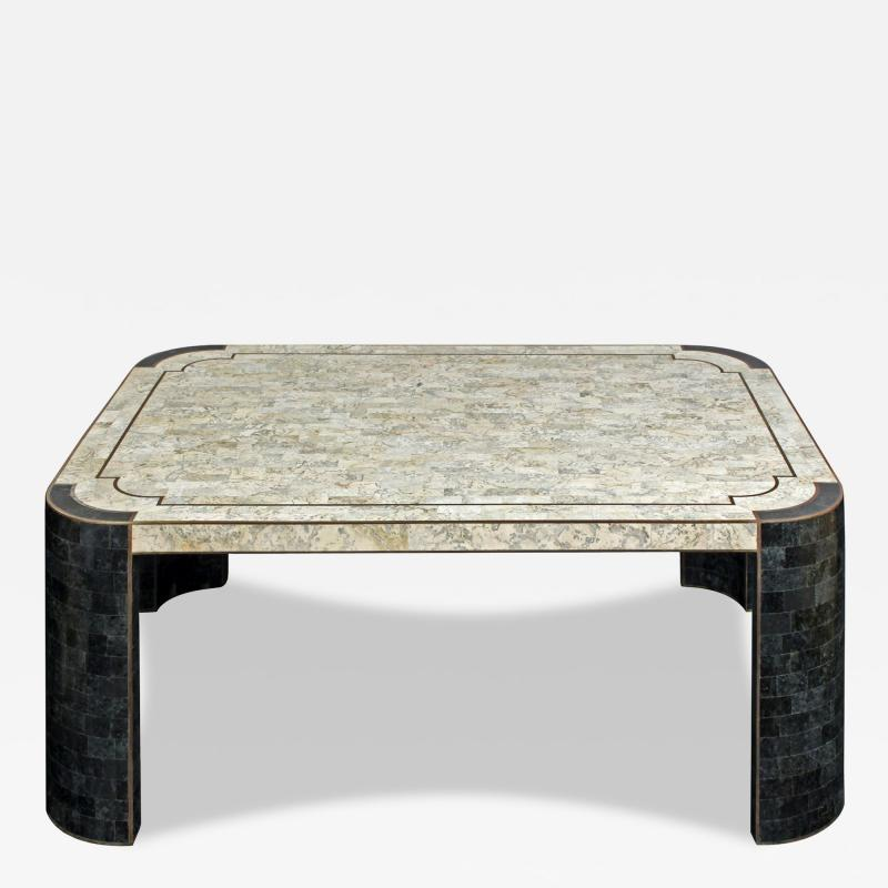 Maitland Smith Chic Coffee Table In Tesselated Stone By Maitland Smith