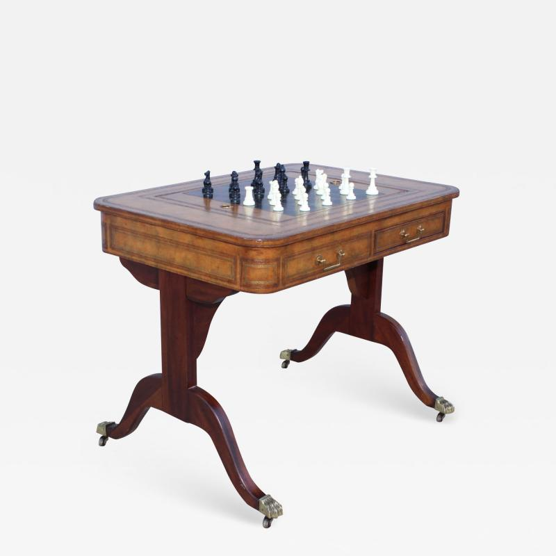 Maitland Smith Maitland Smith Leather Top Game Table