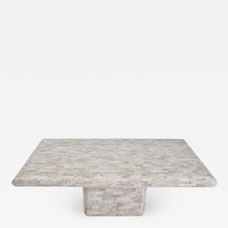 Maitland Smith Tessellated Travertine Dining Table 1970 s