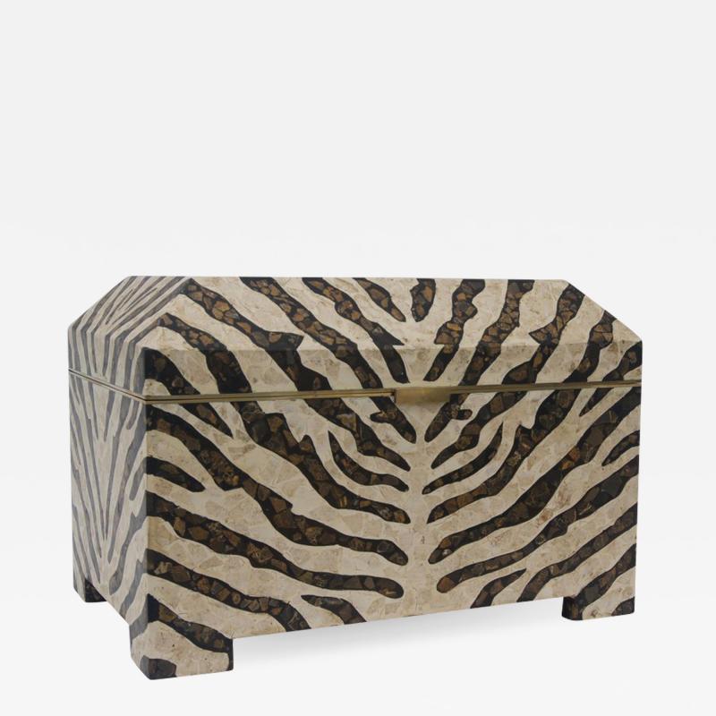 Maitland Smith Zebra Motif Storage Box
