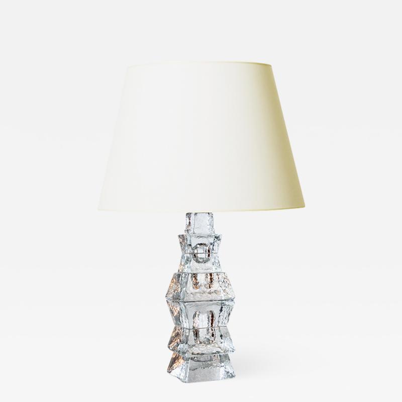 Mantorp Glasbruk Brutalist lamp by Mantorp