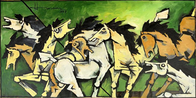 Maqbool Fida Husain Large Maqbool Fida Husain Painting
