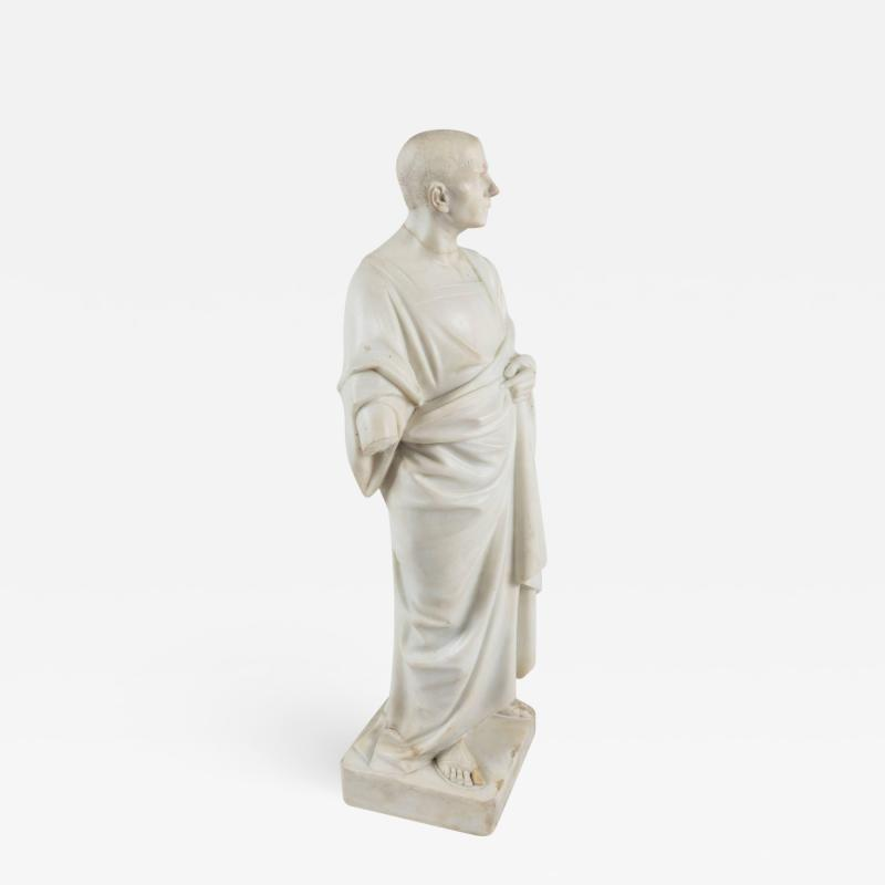 Marble Statue of a Robed Roman Figure