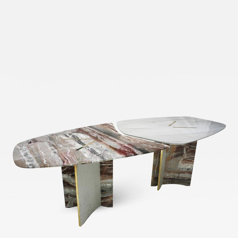Marble Table Designed by L A Studio