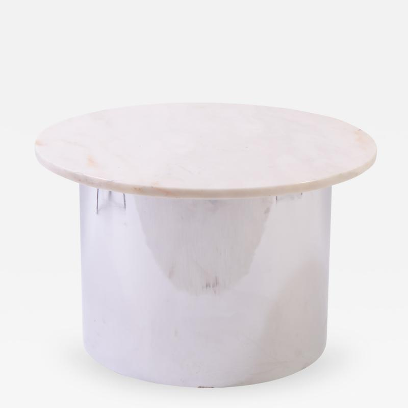 Marble and Chrome Accent Table