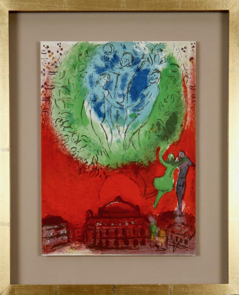 Marc Chagall Paris Fantastique Original colour lithographs 1954