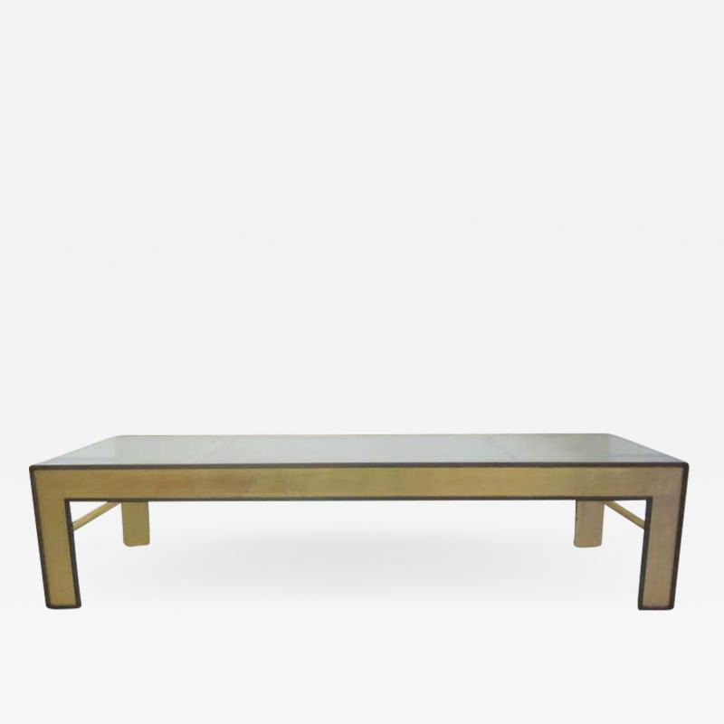Marc Du Plantier Large French Mid Century Style Coffee Table from a Design by Marc Duplantier