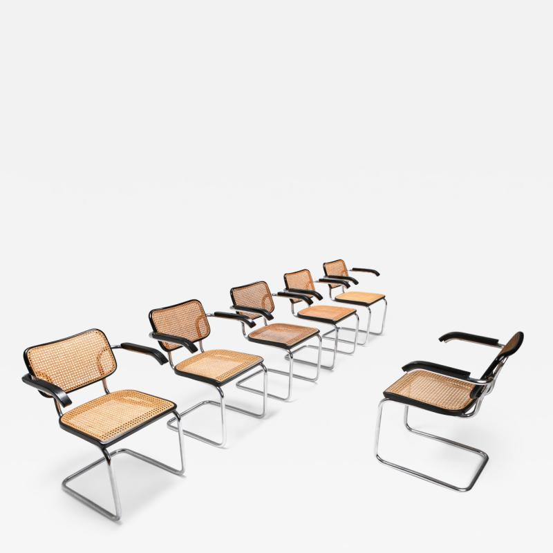 Marcel Breuer Cesca dining chairs B64 Marcel Breuer for Thonet 1992