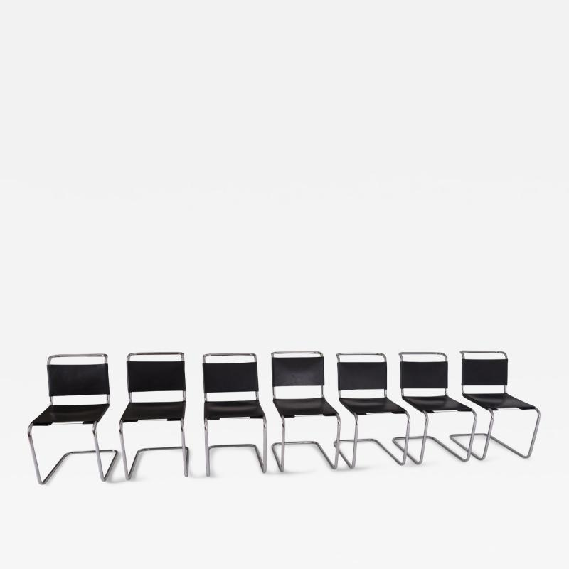 Marcel Breuer Marcel Breuer B33 Leather Dining Chairs 1950s