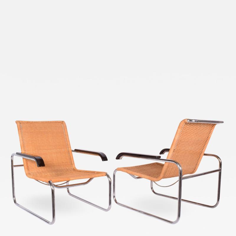 Marcel Breuer Pair B35 Marcel Breuer easy chairs