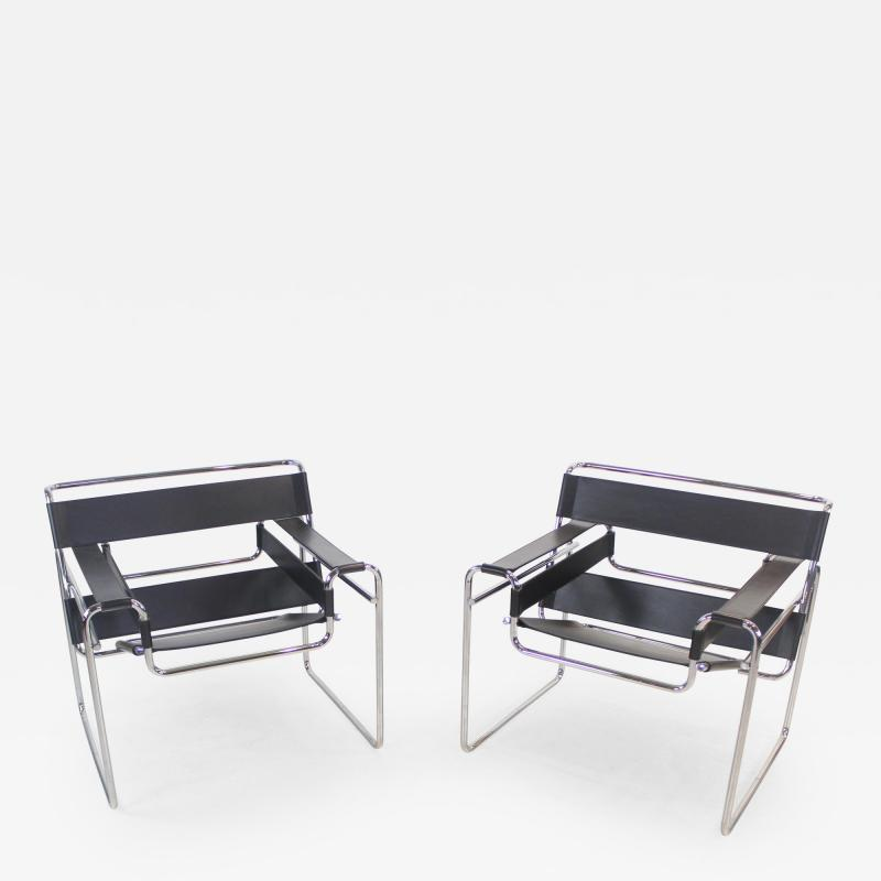 Marcel Breuer Pair of Wassily Chairs Designed by Marcel for Breuer for Knoll
