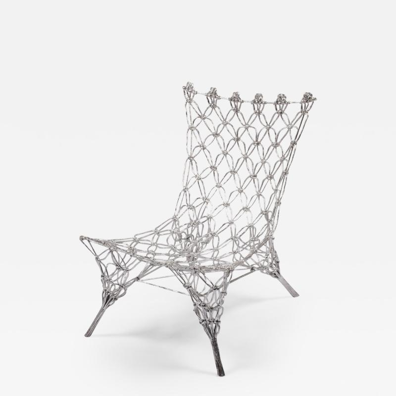 Marcel Wanders Marcel Wander Limited Edition Silver Knotted Rope Chair for Cappellini