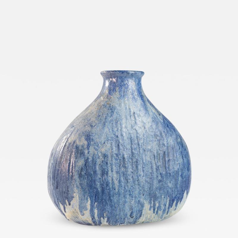 Marcello Fantoni Blue medium onion shaped vase by Marcello Fantoni
