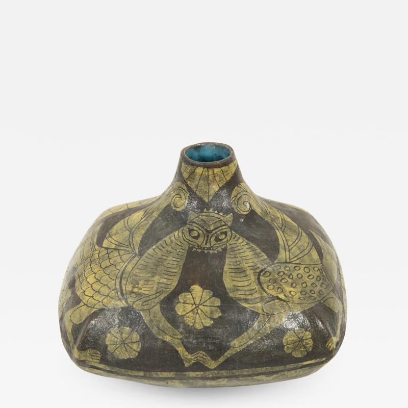 Marcello Fantoni Marcello Fantoni Ceramic vase with Etruscan inspiration circa 1960