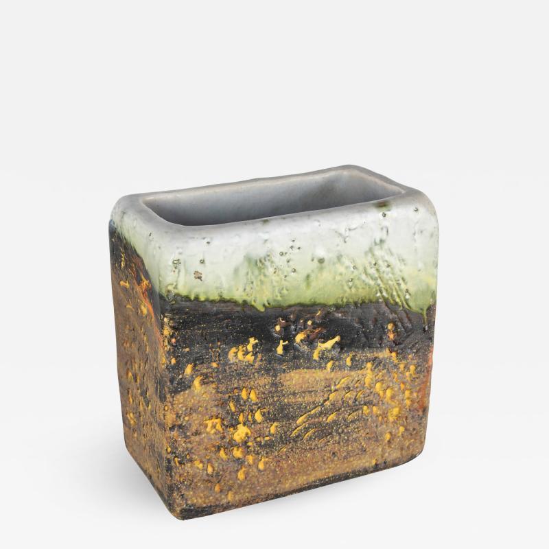 Marcello Fantoni Rectangular vase by Marcello Fantoni circa 1960s