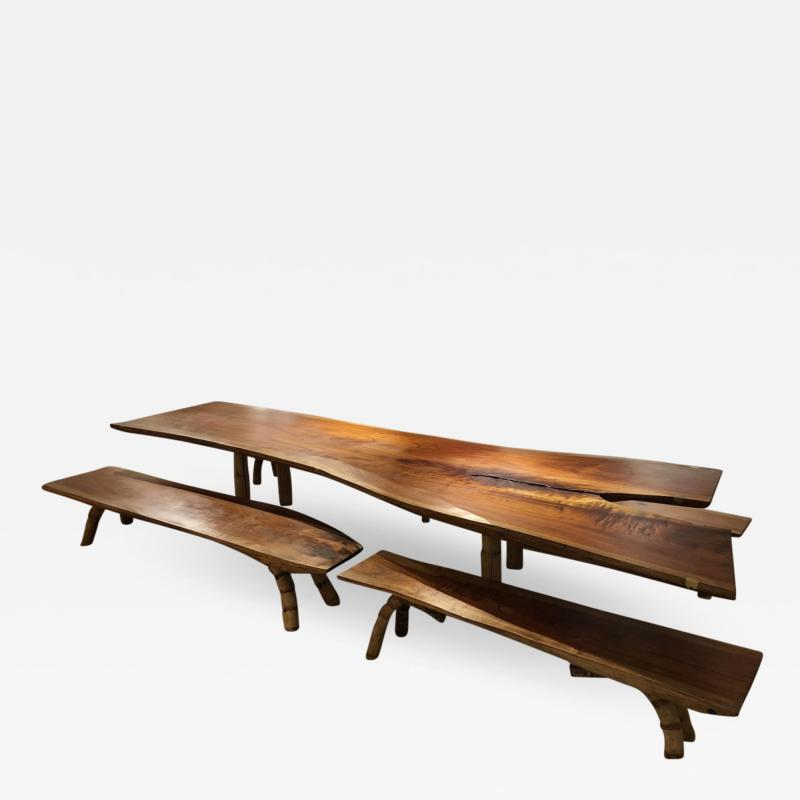 Marcelo Villegas Marcelo Villegas 14 5 ft long cedar table with four benches