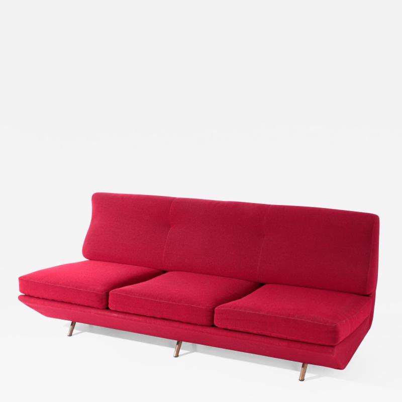 Marco Zanuso Marco Zanuso Sleep o Matic MidCentury sofa bed in red fabric 1954