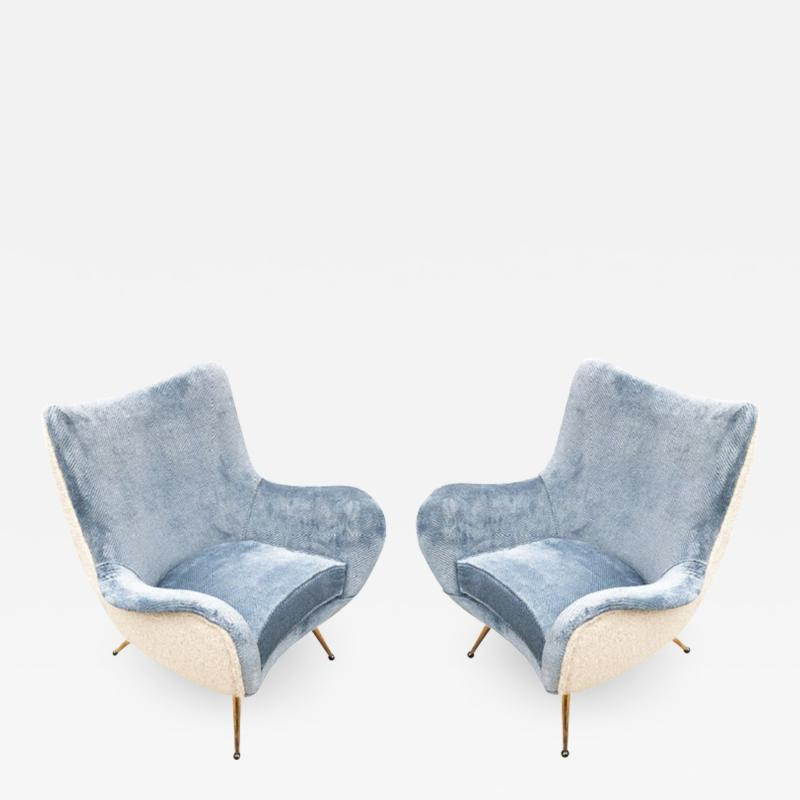 Marco Zanuso Pair of Armchairs Attributed to Marco Zanuso
