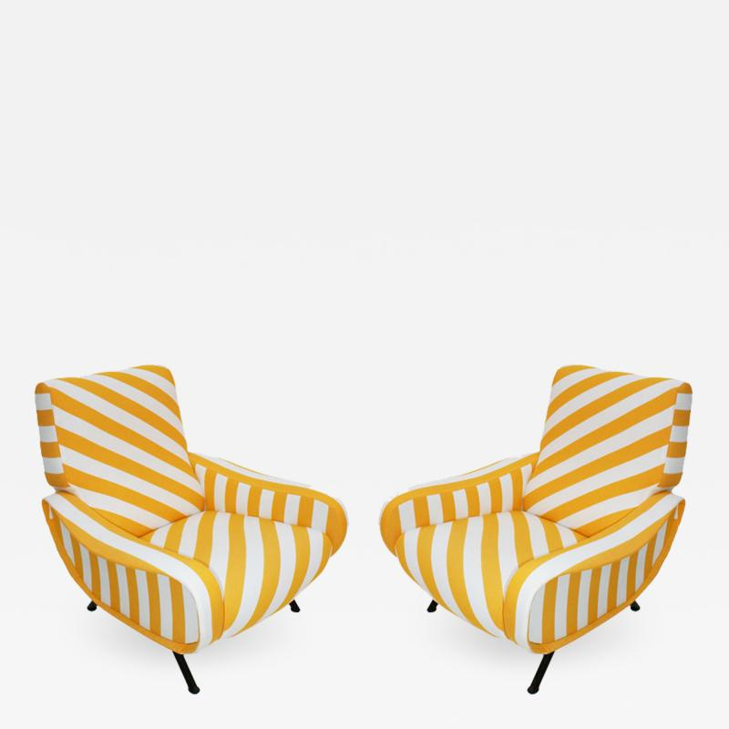 Marco Zanuso Pair of Armchairs Mod Lady Designed by Marco Zanuso and Edited by Arflex