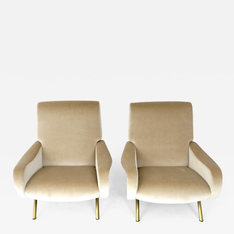 Marco Zanuso Pair of Italian Marco Zanuso Lady Chairs for Arflex
