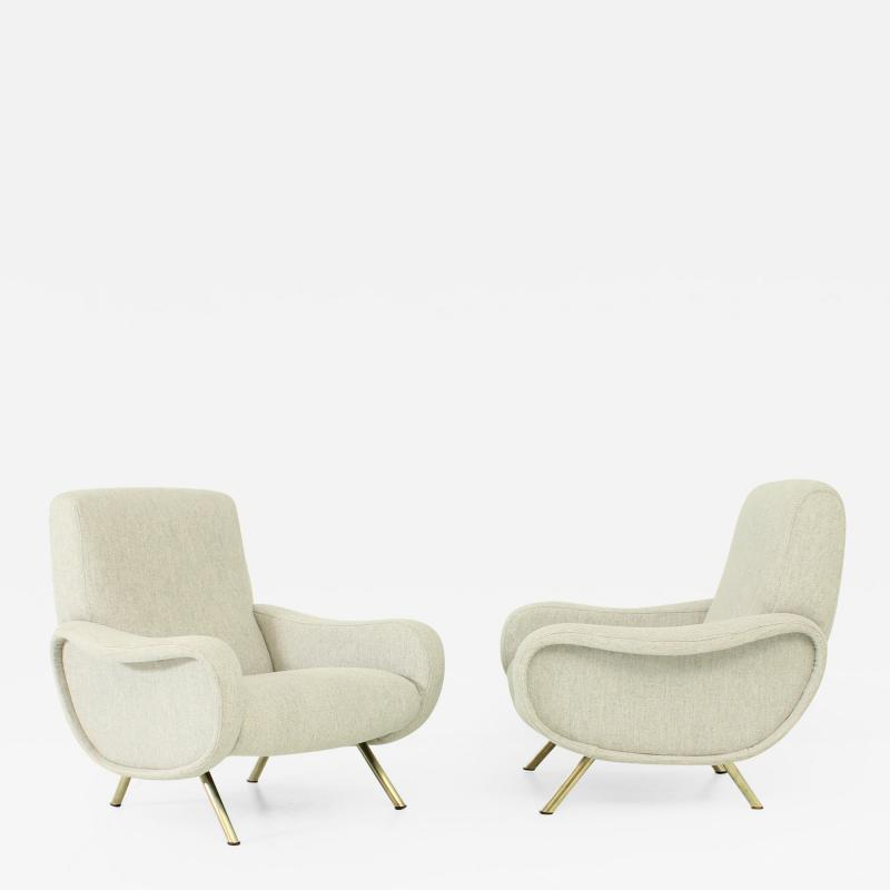 Marco Zanuso Pair of Ladies Armchairs by Marco Zanuso for Arflex Italy 1951