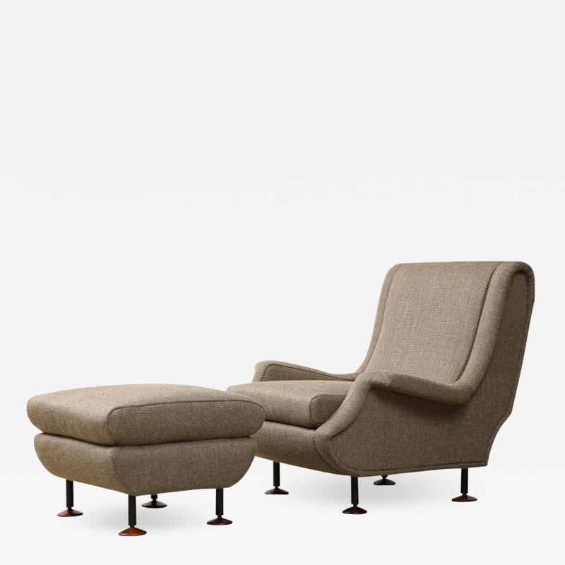 Marco Zanuso Regent Chair Ottoman by Marco Zanuso for Arflex