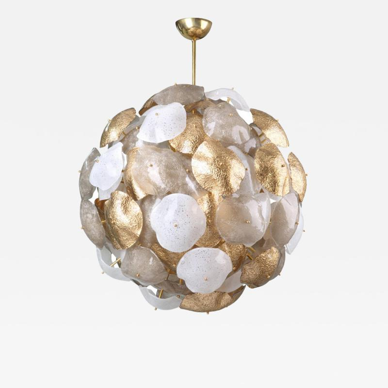 Mare Murano Glass Sputnik Chandelier with 24 Carat Gold Leaf