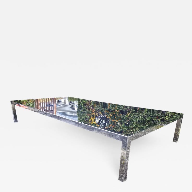 Maria Pergay Mary Pergay longest steel polished coffee table