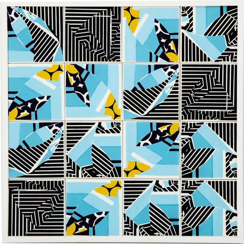 Mariana Lloyd Contemporary Composition with Limited Edition Tiles by Brazilian Designer