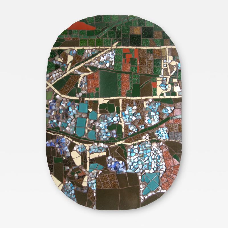 Mariana Lloyd One of a Kind Contemporary Mosaic ML2909 by Brazilian Artist Mariana Lloyd 2020