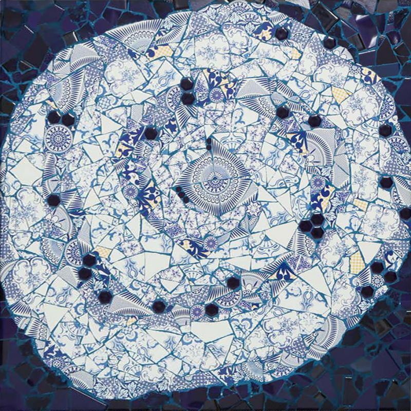 Mariana Lloyd One of a Kind Contemporary Spiral Mosaic 01 by Brazilian artist Mariana Lloyd