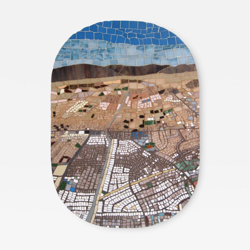 Mariana Lloyd One of a kind Contemporary Mosaic ML7048 by Brazilian Artist Mariana Lloyd 2020