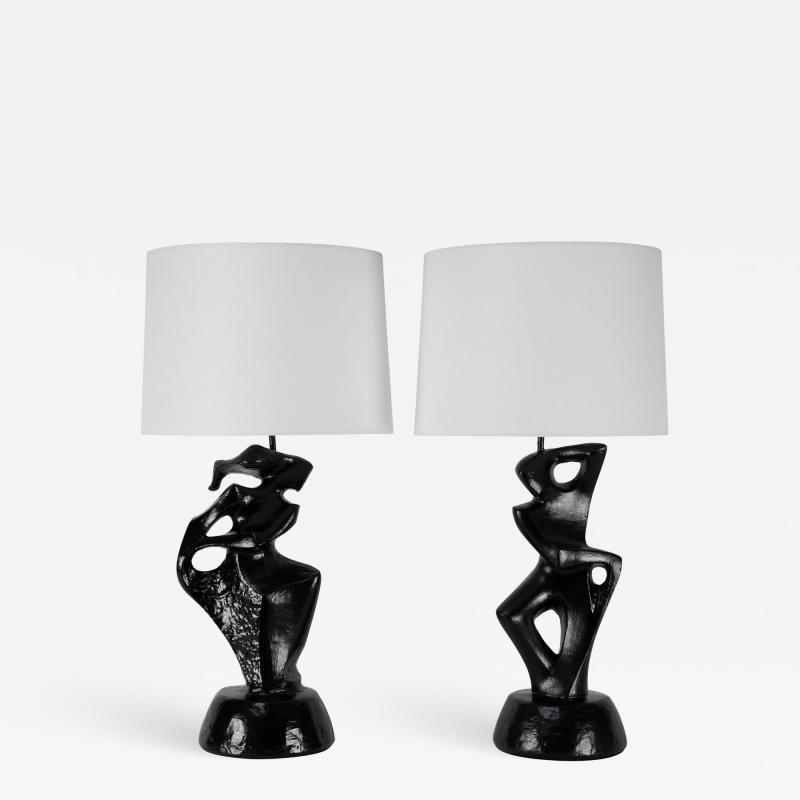 Marianna Von Allesch Pair of Table Lamps by Marianna von Allesch circa 1950s