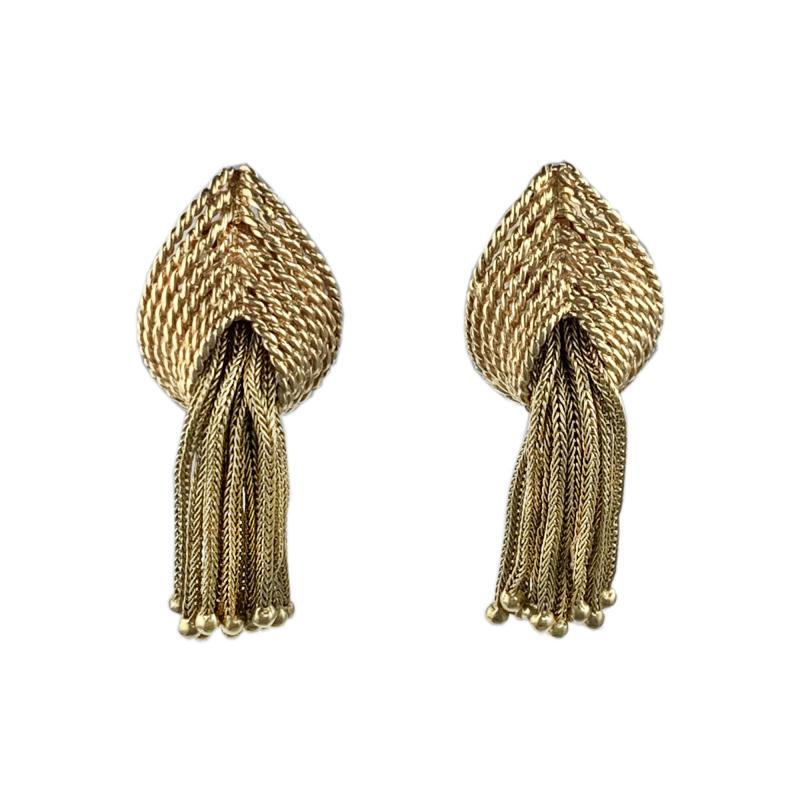 Marianne Ostier Ostier Gold Tassel Earrings
