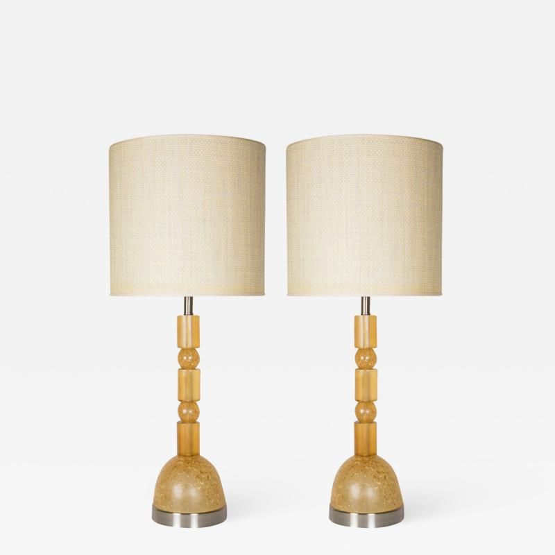 Marie Claude Fouquieres Pair of table lamps