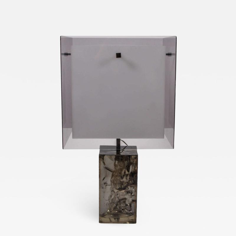 Marie Claude Fouquieres Table Lamp resin Fractal by Marie Claude de Fouquieres